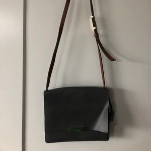 Isaac Mizrahi Bags - Grey and Brown Leather Purse